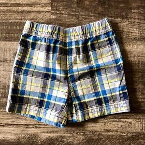 Carter's Plaid Pull Shorts